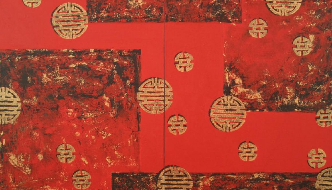 Chinese New Year (diptych) 140 x 120cm, Acrylic on Canvas (SOLD)