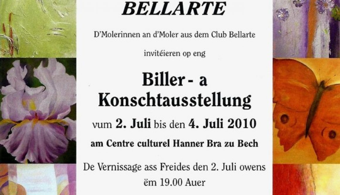 Biller-a Konschtausstellung Invitation